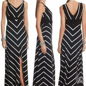 White House Black Market Chevron Maxi Dress Small